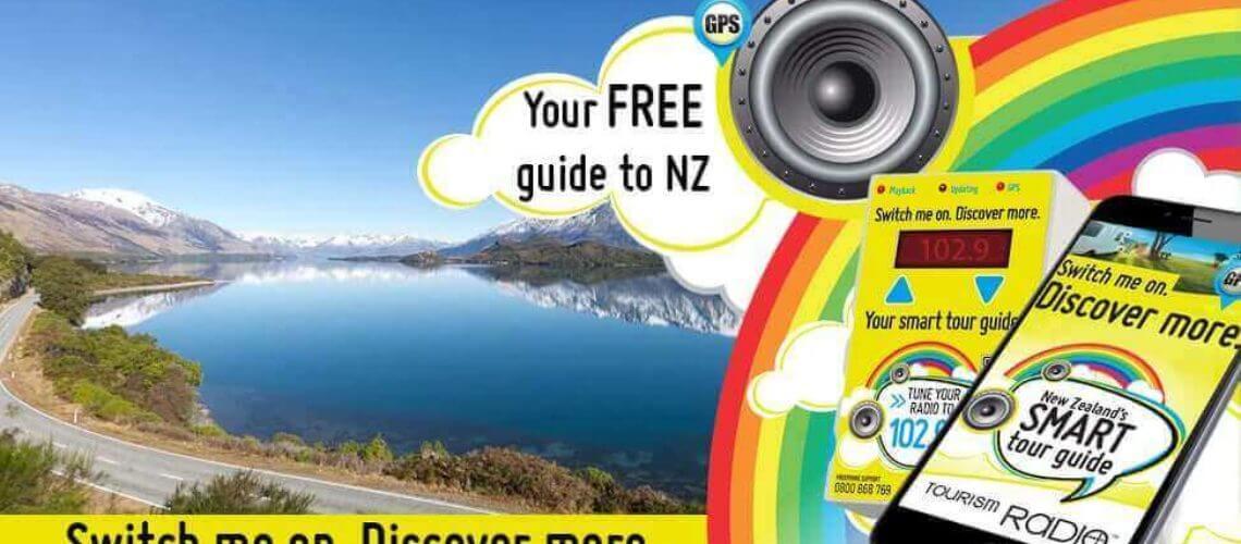 Gratis tourism radio in camper door Nieuw Zeeland